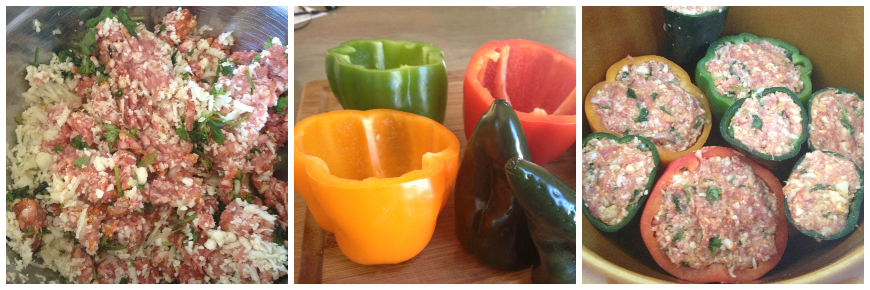 Stuffed peppers 3 ways