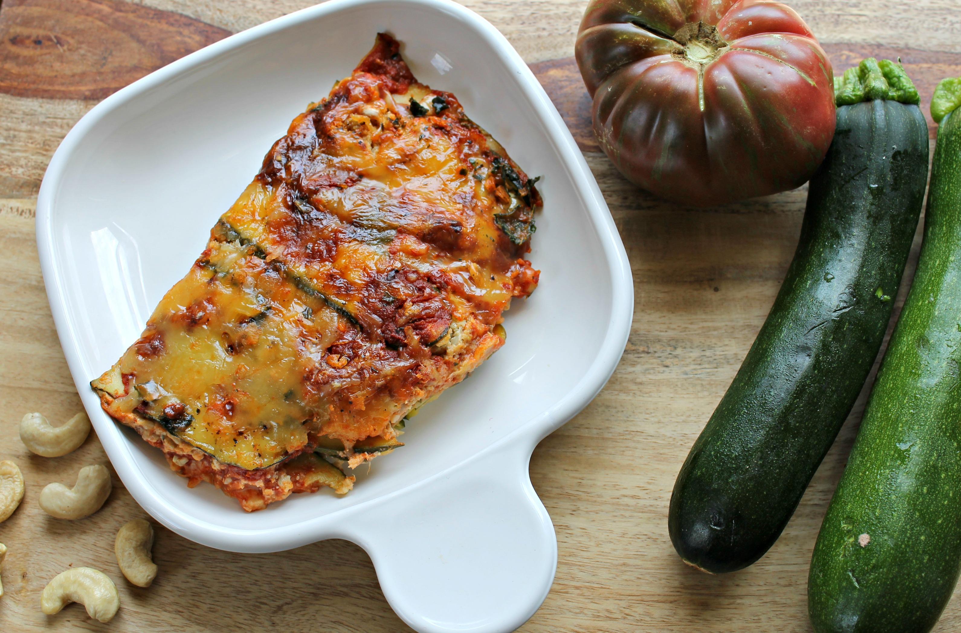 "Zucchini & nut ""cheese"" lasagna"