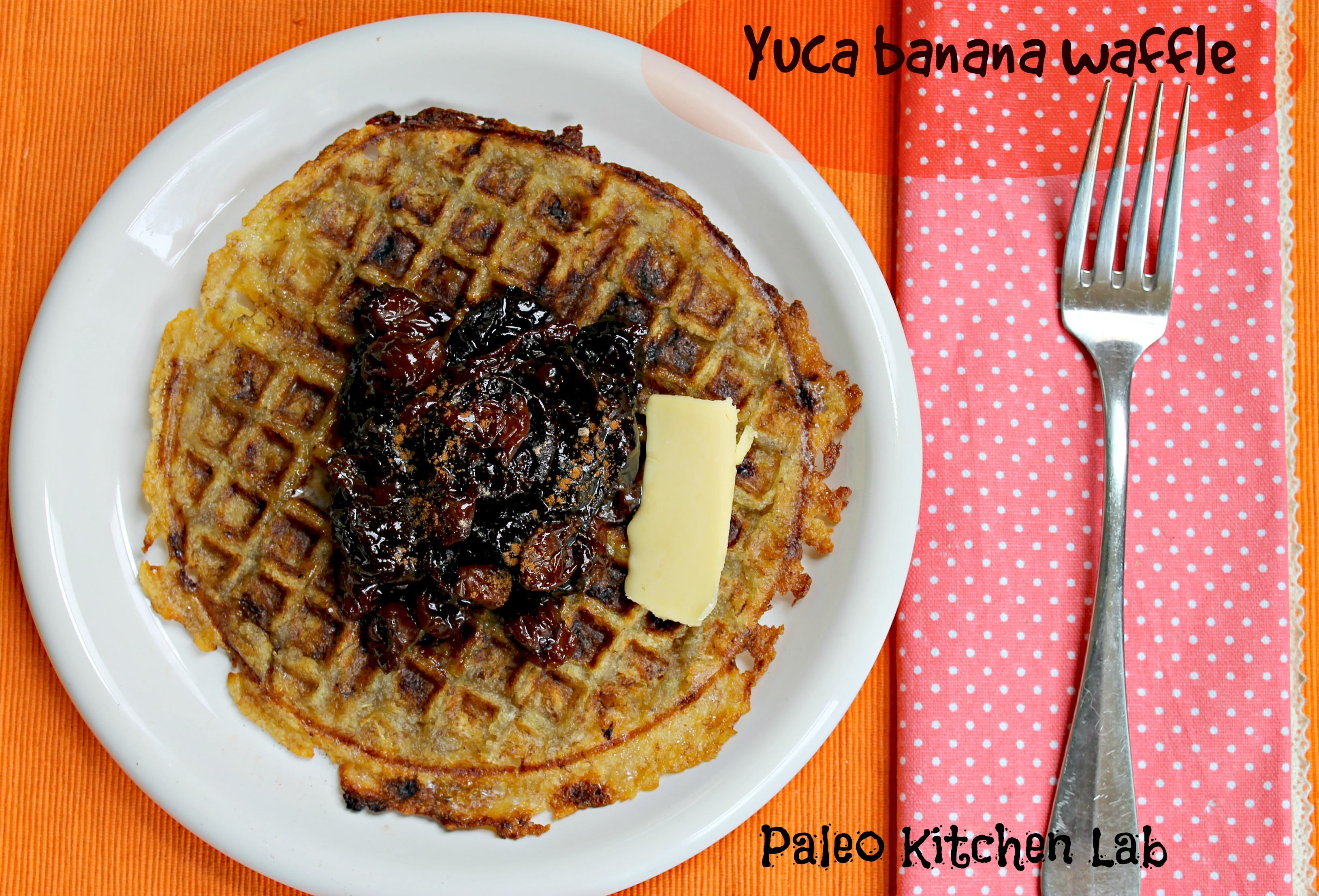 Yuca and banana waffles with tapioca substitution