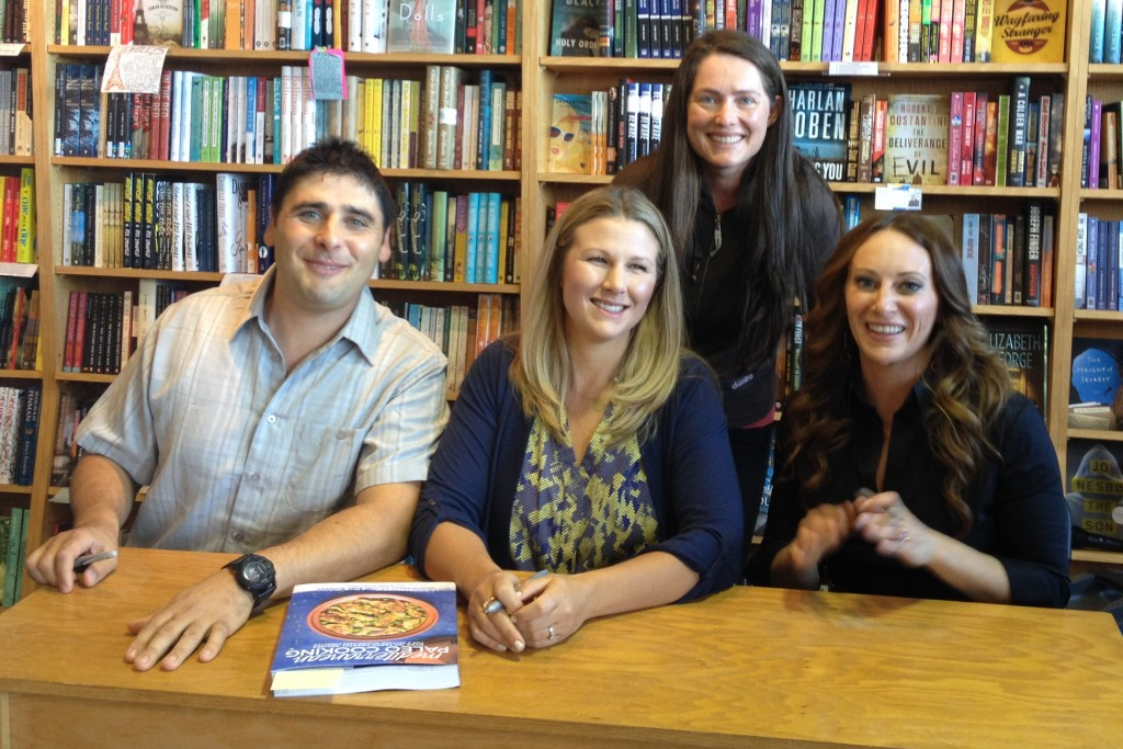 Me with the authors of Paleo Mediterranean Cooking in San Francisco.